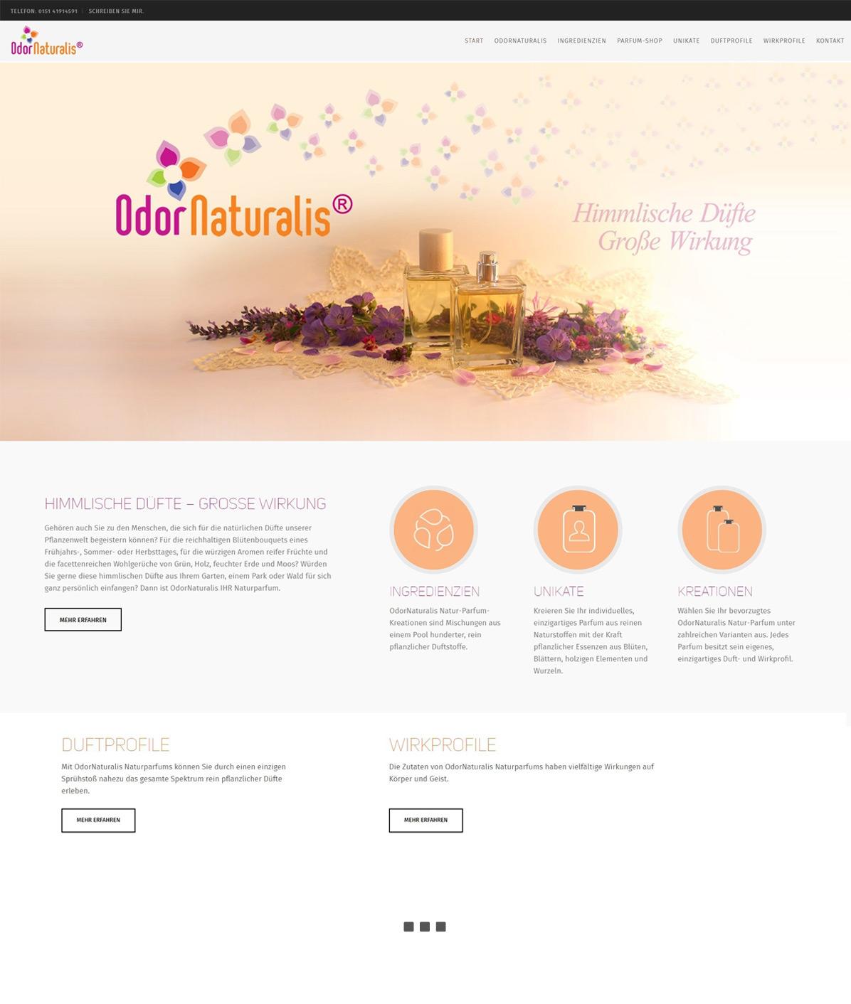 Online-Shop erstellen Odornaturalis