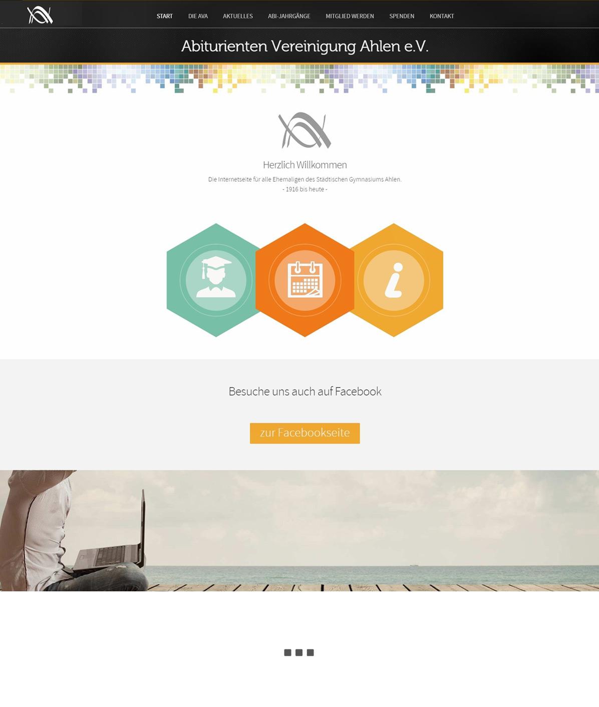 Webdesigngestaltung AVA Ahlen
