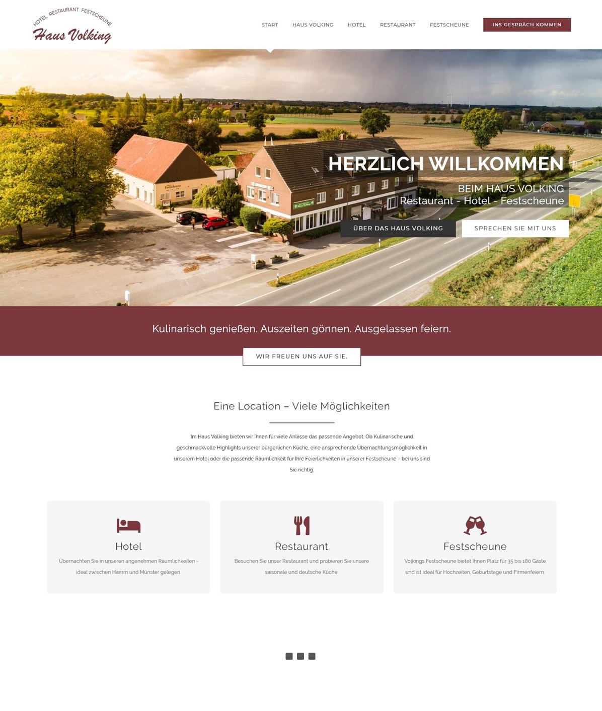 Webseite erstellt für Haus Volking